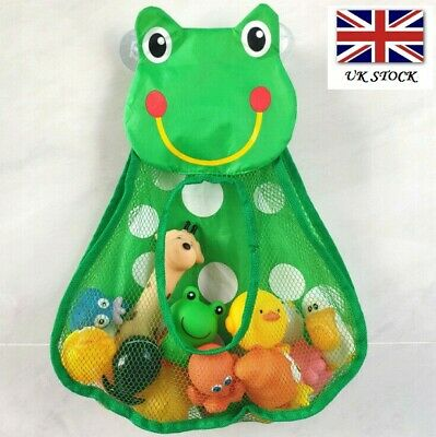 Frog Kids Baby Bath Toy Tidy Bathroom Organiser Mesh Net Storage Holder  • 5.95£