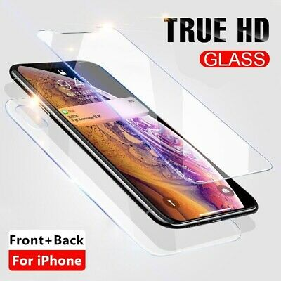 For Apple IPhone XR Front Side & Back Side Screen Protector Tempered Glass Guard • 2.95£