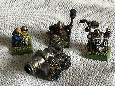 Dwarf Cannon And Crew X3 Very Well Painted Battle For Skull Pass Warhammer RB263 • 24.99£