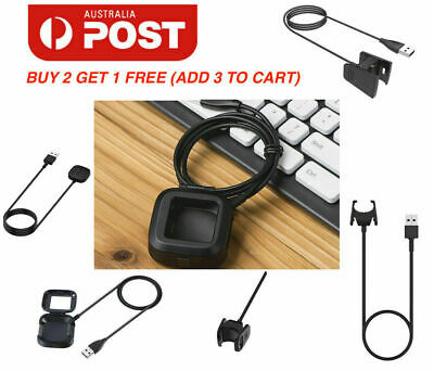 AU6.95 • Buy USB Charger Cable Charging For Fitbit Versa 3/2/1/ Versa Lite /for Charge2/3/4