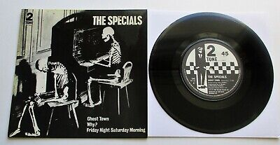 The Specials - Ghost Town UK 1981 Two Tone 7  Single P/S Paper Labels • 34.99£
