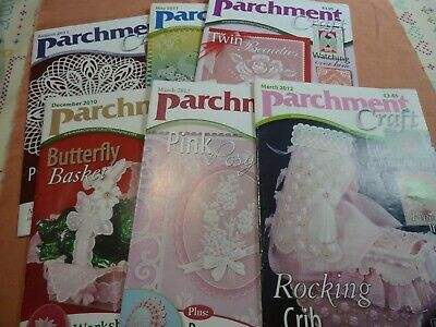 Set 2 Parchment Craft Magazines X 6 • 10£