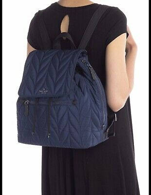 $ CDN158.18 • Buy Kate Spade Large Flap Backpack Ellie Nightcap - Night Cap Dark Blue $299