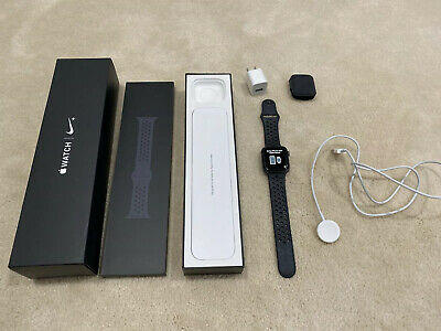 $ CDN166.43 • Buy Apple Watch Series 4 Nike+ 44 Mm Space Gray Aluminum Case Anthracite/Black Used