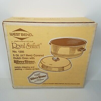 $ CDN67.11 • Buy West Bend  Royal Safari  5 Qt Covered Non-Stick Dutch Oven No. 1205 New Sealed