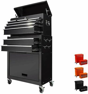 View Details 8 Drawer Rolling Tool Chest Detachable Tool Cabinet Sliding Metal Tool Organizer • 219.99$