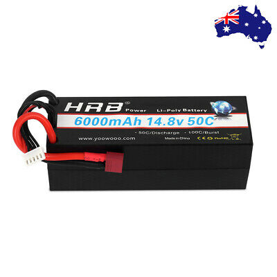 AU83.37 • Buy HRB 6000mAh 4S 14.8V Lipo Battery Hard Case 50C For RC Car Truck Drone Truggy AU