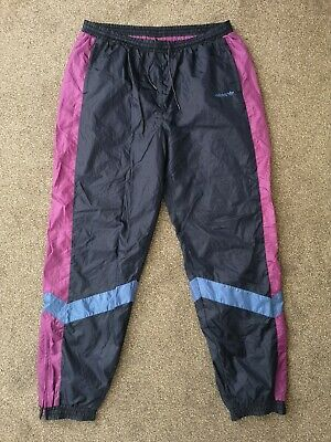 Vintage 80s Adidas Tracksuit Trackie Shell Suit Bottoms Pants - Size XXL • 29.95£