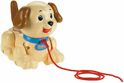 Fisher-Price Lil' Snoopy Baby Pull Along Dog Battery Toy Walking Barking Puppy • 19.99£