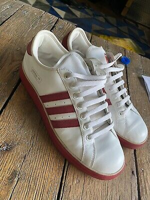 $100 • Buy Rare Classic 2005 Used Worn Size 11 Adidas Muhammad Ali Shoes White Red Gold