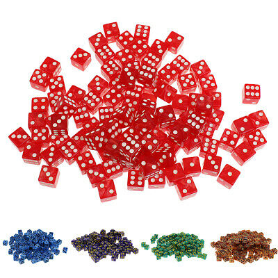 AU15.46 • Buy 100Pcs D6 Dot Dice 14mm For Board Games Activity Casino Theme Party Games