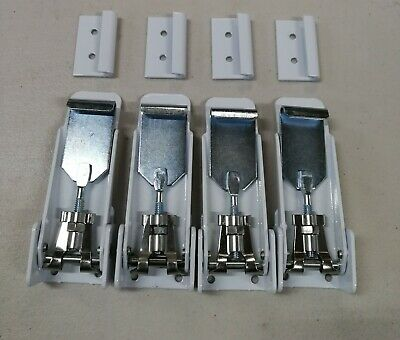 AU85 • Buy Set Of 4, White/silver Toggle Roof Clamp - Suits Pop Top Caravan, Jayco Expanda