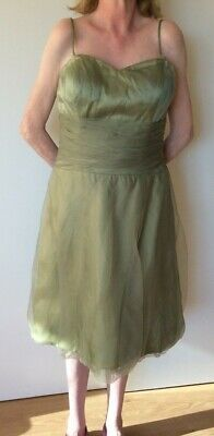 AU9.99 • Buy NCLN Collection Green Organza Bridesmaid Evening Prom Party Dress - Size 12