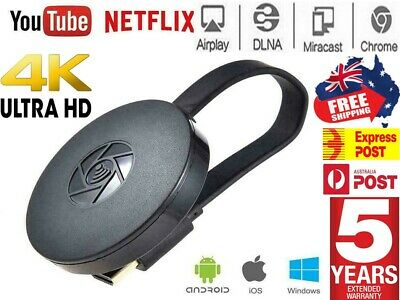 AU28.94 • Buy G4 HDMI Wireless Media Streamer For Chromecast  Android IOS Support Netflix AUS