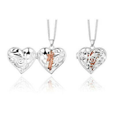 NEW Official Welsh Clogau Silver & Rose Gold SMALL Fairy Locket £40 Off! • 79£
