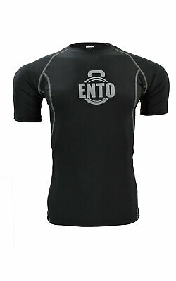 £11.99 • Buy Ento Men's Compression Armor Base Layers Half Sleeves Top Tight Fit Shirts