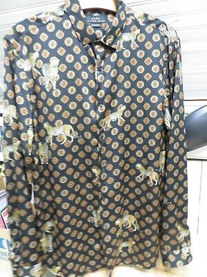 $29.99 • Buy Zara Regular Fit L/s Leopard Shirt Size Large