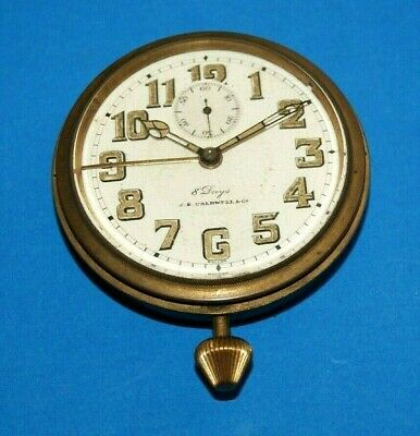 AU551.63 • Buy J.E. Caldwell Swiss Antique Vintage  8 Day Pocket Watch Alarm By Concord Watch
