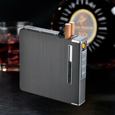 Automatic Cigarette Case Dispenser With Built In Torch Lighter For 20 Cigarettes • 7.21£