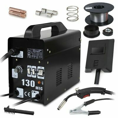 Mig-130 Gasless Welder Flux Core Auto Wire Feed Portable Welding Machine UK • 69.99£