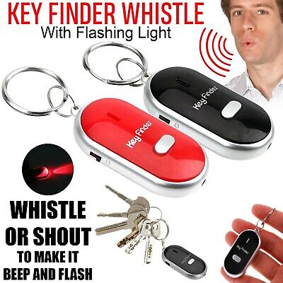 Whistle Lost Key Locator Keys Finder Ring LED Light Remote Control Sonic Torch • 2.09£