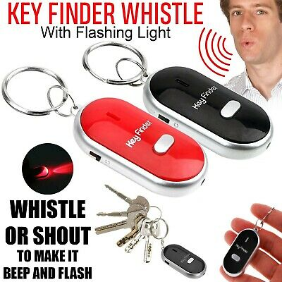 Whistle Lost Key Locator Keys Finder Ring LED Light Remote Control Sonic Torch • 1.99£