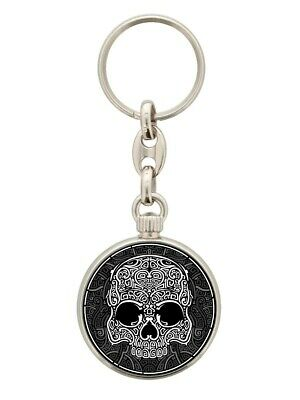 Keyring Unorthodox Collective Graphic Skull Black 3.5x3.5cm • 5.25£