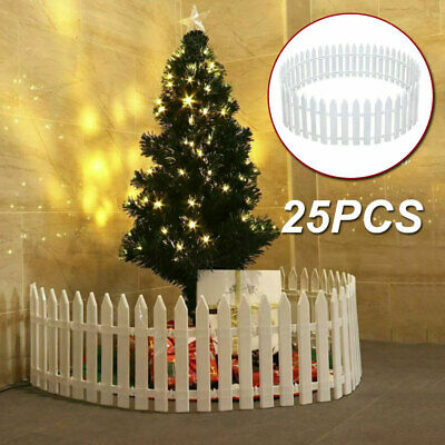 £12.75 • Buy 25PCS Picket Fence Garden Fencing Lawn Edging Home Yard Christmas Tree Fence UK