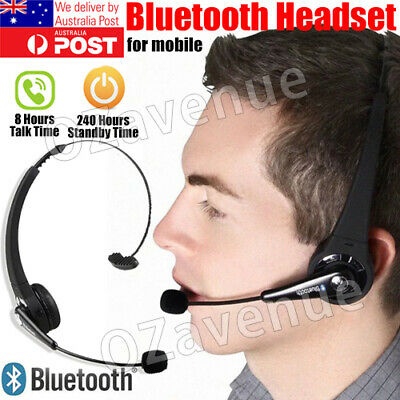 AU25.99 • Buy Bluetooth Wireless Headphones Over Head With Mic Business Driver Headset AU