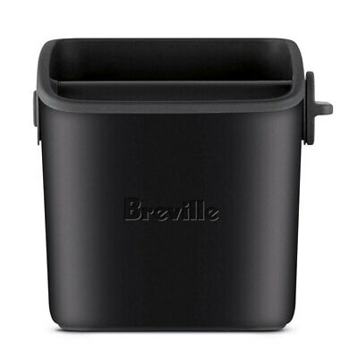 AU49.95 • Buy Breville The Knock Box Mini Container Tamper Bin For Coffee Grind Black Truffle