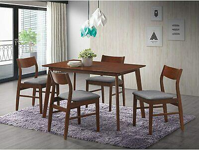 $114.99 • Buy 5PCS Wooden Dining Table Set 4 Chair Seat Breakfast Kitchen Room Home Furniture