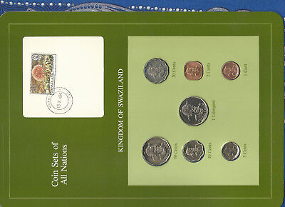 $15.70 • Buy Coin Sets Of All Nations Swaziland 1975-1982 UNC 10 Cent 1975 1 Lilangeni 1981