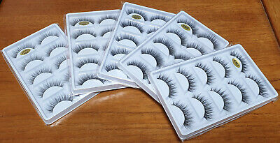 AU6.80 • Buy 3D 5 Pairs Mink Natural Thick False Fake Eyelashes Eye Lashes Makeup Extension