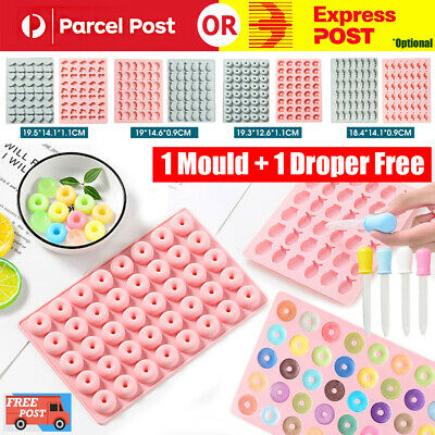 AU7.56 • Buy Silicone Gummy Chocolate Cookie Baking Mold Ice Cube Tray Cake Candy Jelly Mould