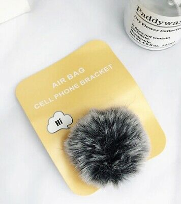 AU13 • Buy Pop Up Socket Phone Holder Hand Fluffy Ball Black Bracket IPhone Samsung