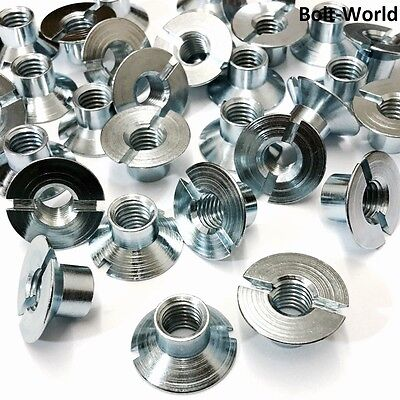 £3.43 • Buy Slotted Countersunk Nuts Free Cutting Steel Bright Zinc Plated M3 M5 M6 M8 M10