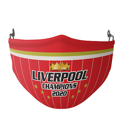 Liverpool Champions Face Mask 2020 D3 Custom Printed Red Face Covering Or SNOOD • 8.99£