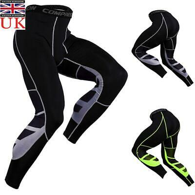 Men's Compression Sport Gym Workout Running Pants Base Layer Tight Leggings UK • 8.89£