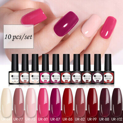 10 Bottles UR SUGAR UV Gel Polish Set Soak Off Nail Art Gel Varnish UV LED 7.5ml • 5.99£