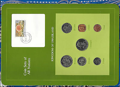 $16.62 • Buy Coin Sets Of All Nations Swaziland Wcard 1975-1982 UNC 50 Cents 1 Lilangeni 1981