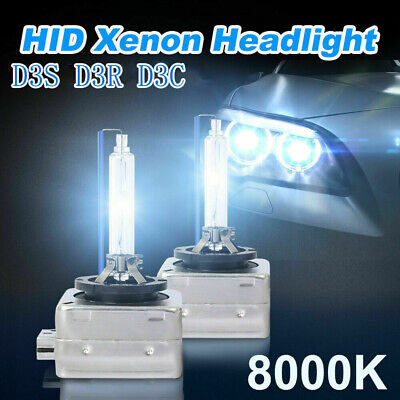 AU44.90 • Buy Pair D3S 8000K 35W Heavy Duty HID Headlights Bulbs Lamps Blue White Replacement
