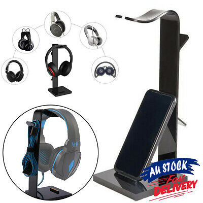 AU16.90 • Buy Earphone Headset    Holder For Headphone Acrylic  Desk Display Stand AU Hanger