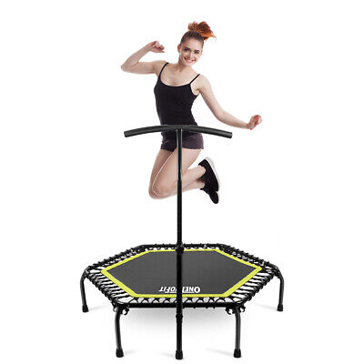 OneTwoFit 45  330lbs Trampoline Rebounder Safety Hand Rail Fitness Workout SPORT • 49.99£