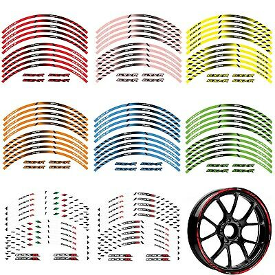 $12.49 • Buy 17  18   GSXR  Wheel Rim Tape Decal Stripes Sticker For Suzuki 600 750 1000