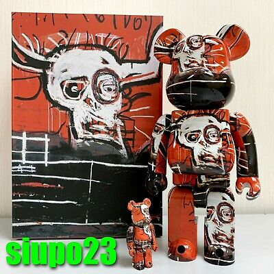 $189.99 • Buy Medicom 400% + 100% Bearbrick ~ Jean-Michel Basquiat 05 Be@rbrick