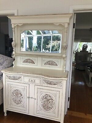 AU950 • Buy Antique Mirrored Side Board Cabinet