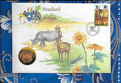 $6.29 • Buy E Coins Of All Nations Swaziland 1975 2 Cent UNC KM#22