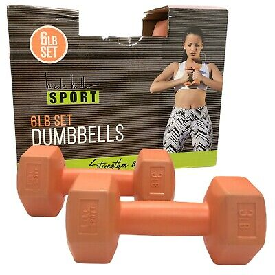 £28.32 • Buy Nicole Miller Dumbbell 3lb Weights Workout Strengthen Tone Fitness
