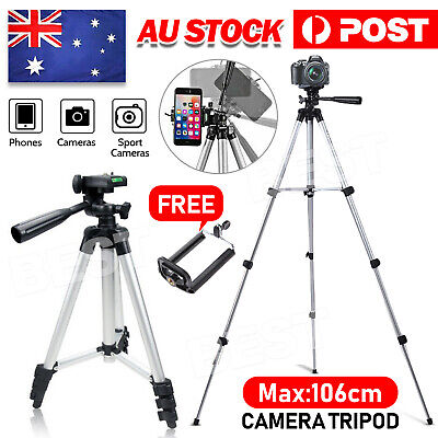 AU15.95 • Buy Professional Tripod Digital Camera DSLR Camcorder Video Mobile Phone Up To 106cm