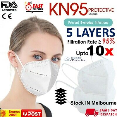 AU9.49 • Buy KN95 Mask Disposable FaceMasks Reusable Face Filter Anti Dust Respirator UP 10x